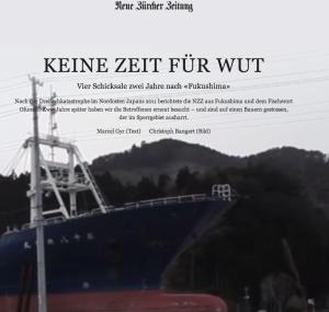 Keine Zeit für Wut - NZZ zu Fukushima