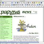 papyrus auf dem mac