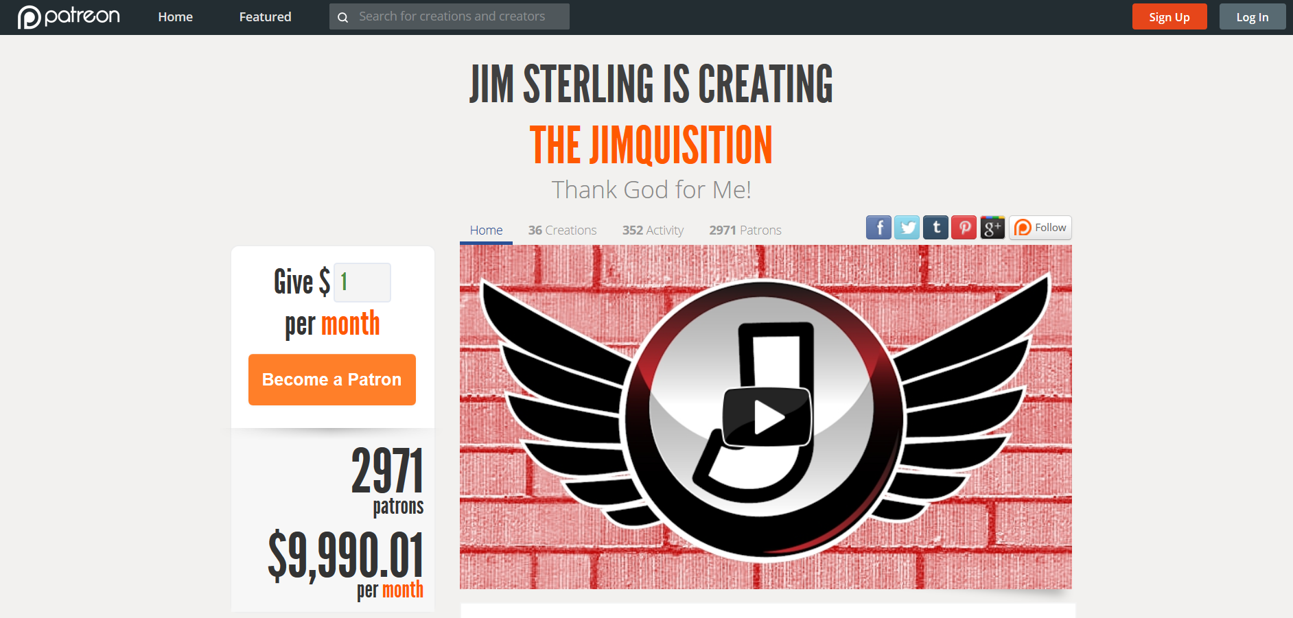 Patreon.Jim Sterling