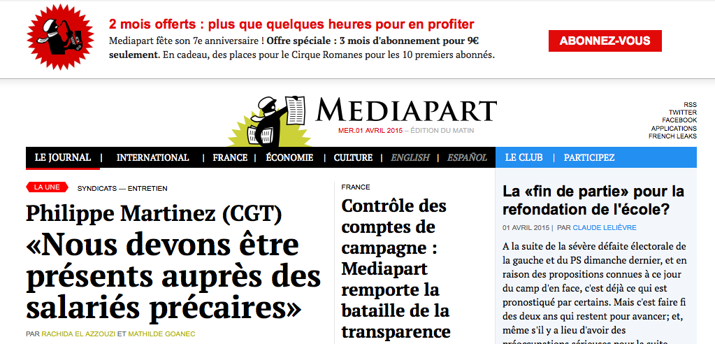 Mediapart Screen