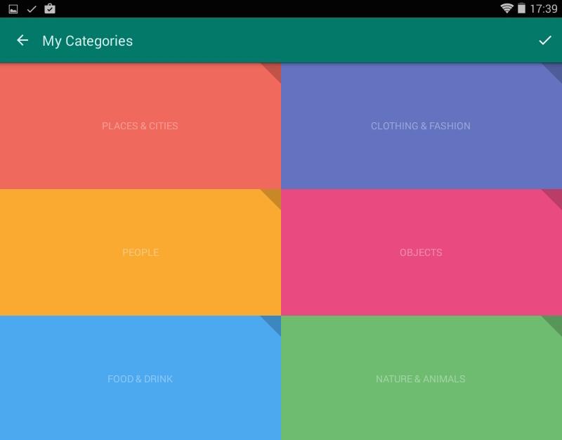 The List - Kategorien