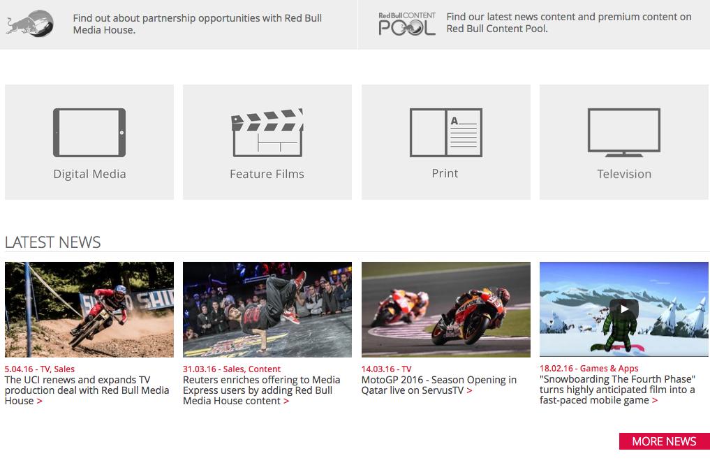 Red Bull bastelt am eigenen Medienimperium